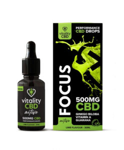 CBD Focus Drops by Vitality CBD: Active