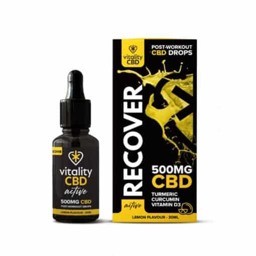 CBD Recover Drops by Vitality CBD: Active