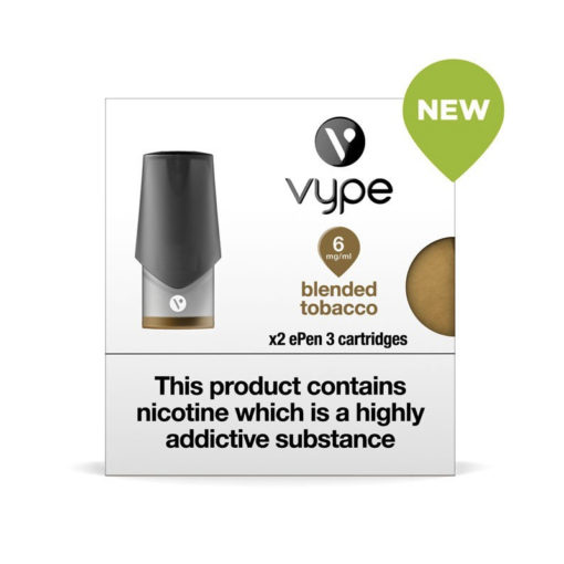 Blended Tobacco Vype Epen Cartridges