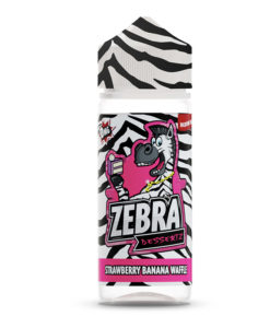 Zebra Dessertz - Strawberry Banana Waffle 100ml Short Fill