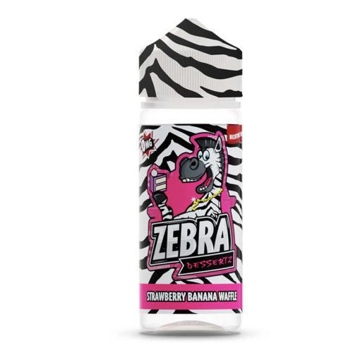 Zebra Dessertz - Strawberry Banana Waffle 100ml Short Fill