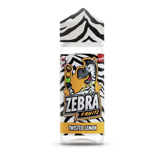 Zebra Fruitz - Twisted Lemon 100ml Short Fill