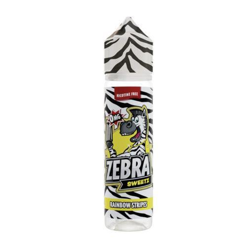 Zebra Sweetz - Rainbow Stripes 50ml Short Fill