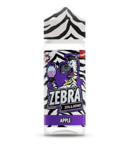 Zebra Zillions - Apple 100ml Short Fill